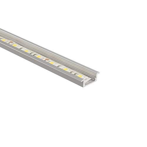 Perfil de Aluminio Empotrado 1m para Tiras LED TraslúcidoTraslúcido