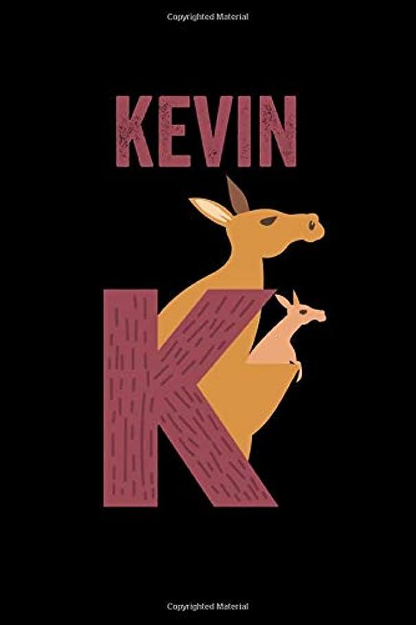 暴徒顕現政令Kevin: Journal (Diary, Notebook) Personalized Custom Name Alphabet Kangaroo Birthday Gift for Boys