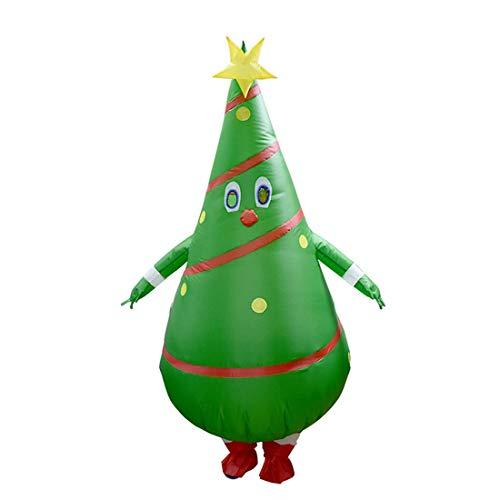 AaAlma Weihnachtsbaum Puppe Cartoon Kostüm Weihnachten aufblasbare Kleidung Erwachsene 150-190cm