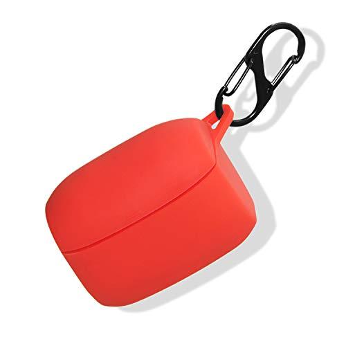 Haotop Schutzhülle kompatibel mit Jabra Elite 65t/Elite Active 65T, weiche Silikon-Schutzhülle, kabellose Ohrstöpsel Farbe: Rot
