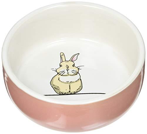 "Nobby Nager Keramik Napf \""Rabbit\"" lachsfarben/weiß Ø 11cm x 4,5 cm"