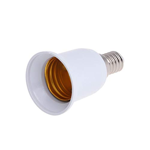 Yihaifu 5pcs E14 a E27 zócalo del adaptador de Luz en la base de tornillo convertidor PBT calor del sostenedor de bulbo del LED resistente