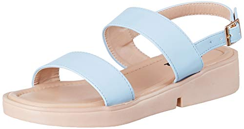 Flavia Women's Blue Fashion Sandals-5 UK (37 EU) (7 US) (FL-11/BLU/05)