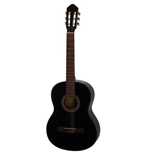 Santana-B8BK-LEFT-V2 - Guitarra clásica para zurdos