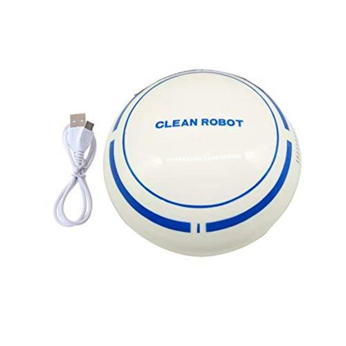 HETUI Robot de Nettoyage Rechargeable Automatique Robot aspirateur Intelligent de Balayage (Blanc)