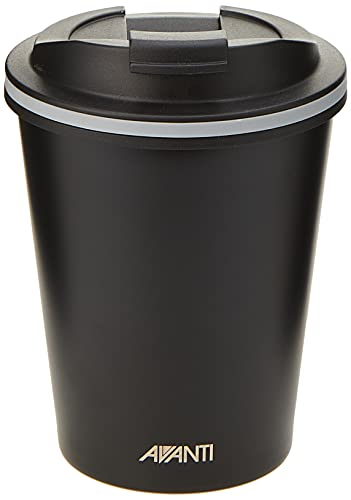 Avanti Go Cup Double Wall Travel Cup, Black, 13441