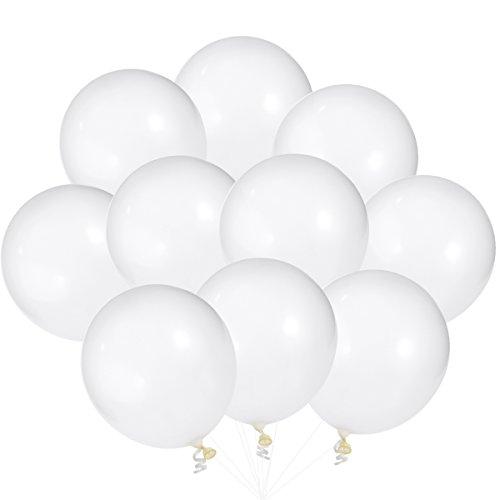 Pixnor 25 Luftballons Transparent transparente Farbe verdickt Latex Ballon