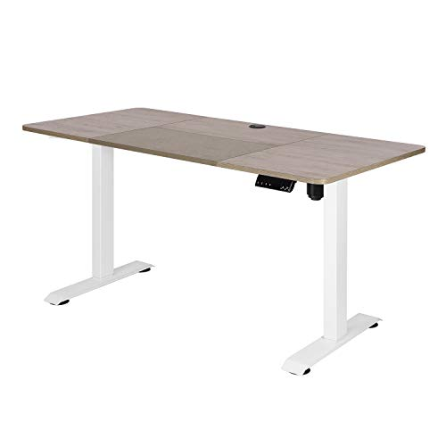 Height Adjustable Standing Desk, Computer Desk for Home Electric Sit Stand Desk 140x70 cm Gaming Desk Home Office Stand up Desk,Home/Office Furniture (Gray)