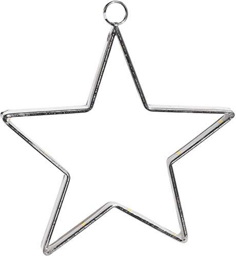 made2trade LED Stern zum Aufhängen - 15 LED - 14cm - Silber