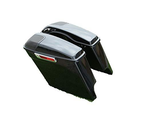 XMT-MOTOR Motorrad Seitenkoffer + Lautsprecherabdeckung Kompatibel mit Harley Touring 2014-2020