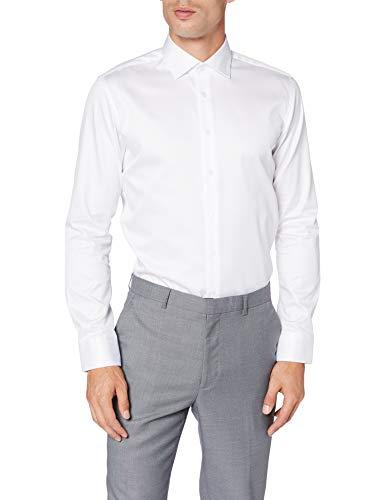 Seidensticker Herren Business Hemd - Bügelleichtes Hemd mit sehr schmalem Schnitt - X-Slim Fit - Langarm - Kent-Kragen - 100{59a772559e8f10d944b600227295fce5cfb3835a830220a81434639f22a603c0} Baumwolle