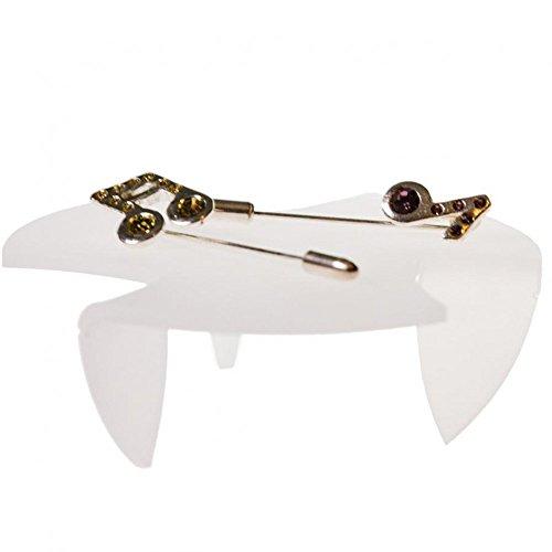 Soporte para joyas con expositor de mesas redondas (4 piezas), translúcido