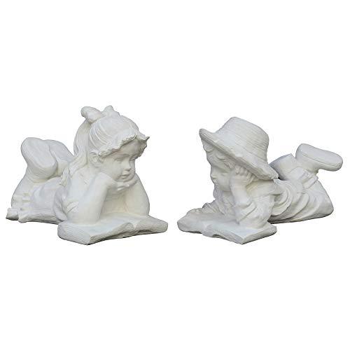 STONE art & more - Juego de figuras decorativas para niñas y niños (piedra, mármol, resistente a las heladas)
