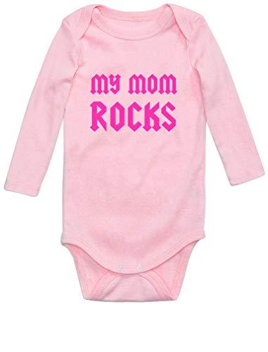 Fête des mères * My Mom Rocks Body Bébé Manche Longue 12M Rose