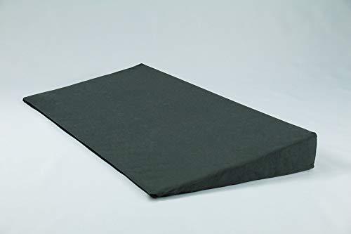 Fränkische Schlafmanufaktur Keilkissen Bettkeil Poly 9/1cm mit Bezug, Farbe Grau, Breite 90cm