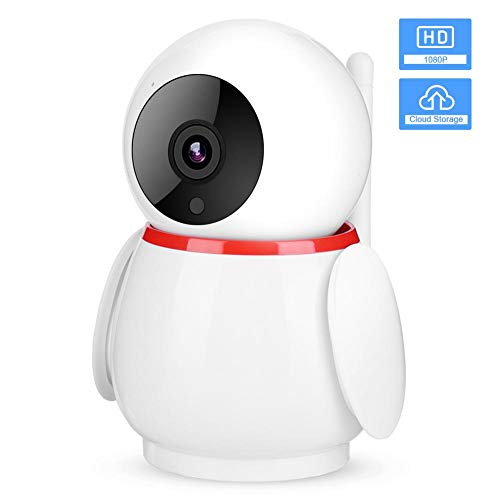 IP-camera, draadloos, 1080p FHD Wifi bewakingscamera met cloud-opslag/IR CUT/Enhanced Night Vision/bewegingsdetectie/bidirectionele audio EU