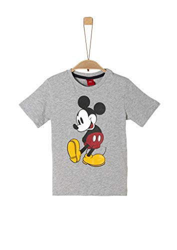 s.Oliver Junior 404.14.004.12.130.2052291 T-Shirt, Jungen, Grau 116/122 REG