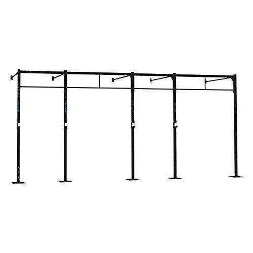 Capital Sports Dominate W 580.170 Wall Mount Wandmontage Power Rack Gym Rig Cross-Training Functional-Training Double-Bar Single-Bar Klimmzugstange 407 x 270 x 170 cm Stahl schwarz