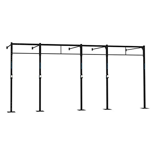 Capital Sports Dominate W 580.170 Wall Mount Wandmontage Power Rack Gym Rig Cross-Training Functional-Training Double-Bar Single-Bar Klimmzugstange 407 x 270 x 170 cm Stahl schwarz