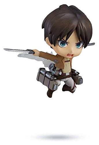 XIAOGING Figuras de Acción Anime Figuras de 3,9 Pulgadas Ataque En Titán Eren Jaeger Nendoroid de Colección Modelo de Acción Material PVC