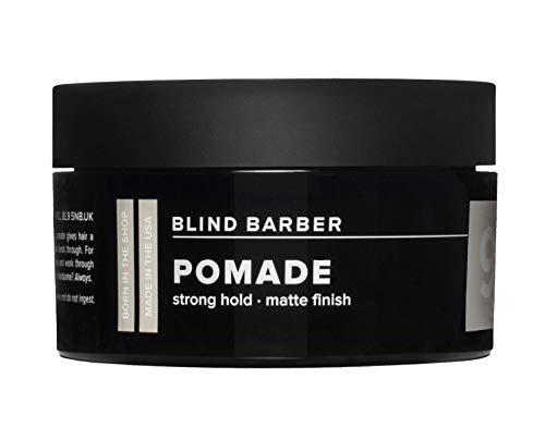Blind Barber 90 Proof Pomade - Strong Hold, Light Texture Matte Hair Pomade for Men, Water Based Pomade with Hops & Tonka Bean (2.5oz / 70g)