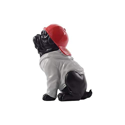 Hong Yi Fei-Shop Decoraciones de Escritorio Perro Figurita Decoración Artesanía Animal Familia...