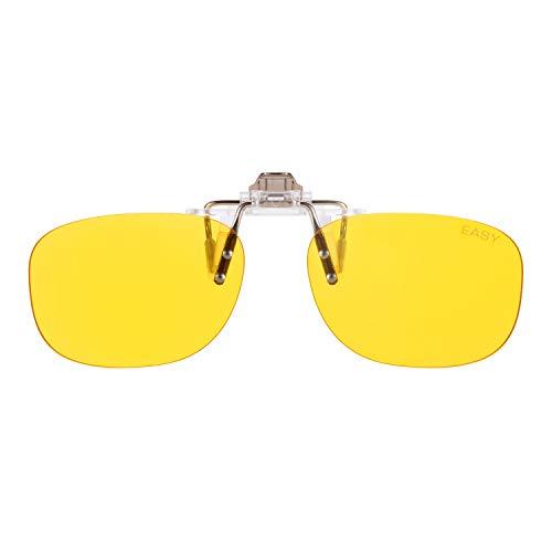 PRiSMA CLiP-ON EASY90 bluelightprotect - Brillenaufstecker - Gaming, E-Sport, TV und Tagarbeit ohne Kopfschmerzen - CP702