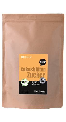Wohltuer Bio Kokosblütenzucker aus fairem Handel und Permakultur, 1er Pack (1 x 2 kg)