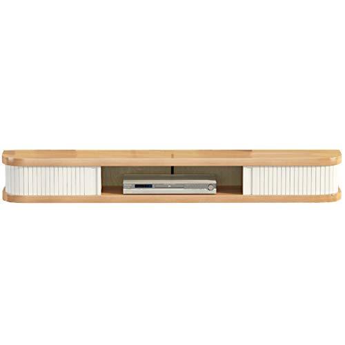 Router montado en la pared para TV, dormitorio y dormitorio, de madera maciza, enrutador de varias capas, WiFi, set de rack (color: blanco, tamaño: 140 x 23,5 x 16 cm)