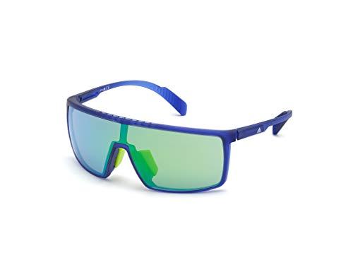 adidas SP0004 Gafas, Matte Blue/Green Mirror, 00 Unisex Adulto