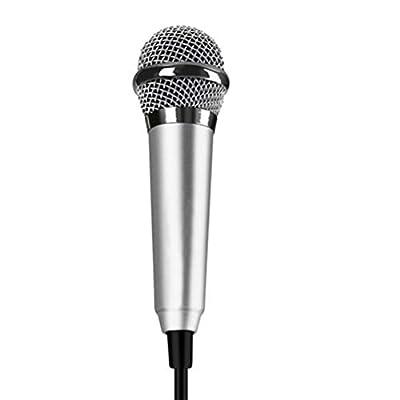 SUPVOX Mini Karaoke Condenser Microphone for Mini Telephone (Silver)