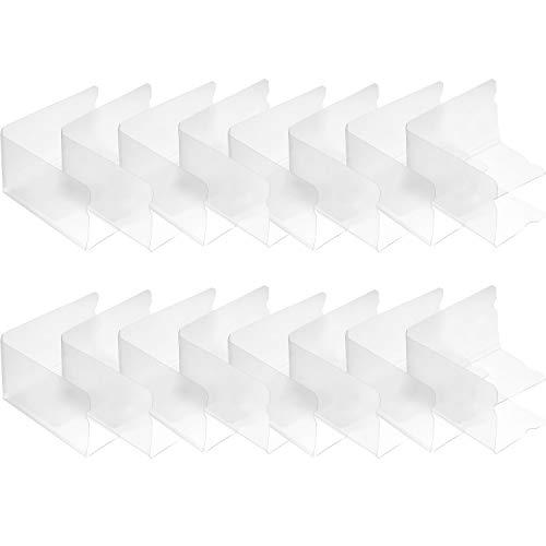16 Pièces Boîte de Rangement de Masque Boîte de Masque Pliables Organisateur de Masque en Plastique Transparent Boîte de Rangement de Masque Portable (Sans Masque), 7,36 x 4,21 Pouces
