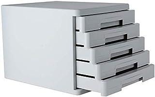Classeur avec tiroir Fichier plat Classeur plat Boîte de rangement Mobilier d'archives Cabinet 5 tiroirs en plastique bure...