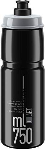 Trinkflasche Elite Jet schwarz grau 750 ml
