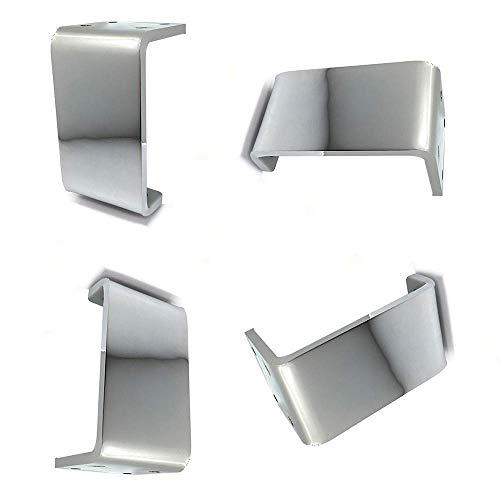 Wyxy Patas de Muebles, Patas de sofá de Metal para Bricolaje, Elevador de Muebles Negro, Cocina de Hierro, Accesorios de baño, Mesa de Centro reemplazable, Patas de Mueble de TV (4 Piezas), Plata