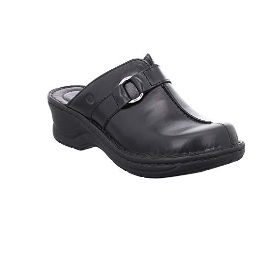 Josef Seibel Damen ClogsPantoletten Catalonia 57, Frauen Clogs, Lady Ladies feminin elegant Women's Women Woman Freizeit leger,schwarz,41 EU / 7 UK