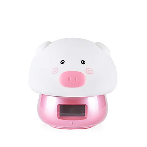 GYHJG Wecker USB Wake Up Pat Light Sound Jahr des Schwein Weckers Remote Nachtlicht Wecker