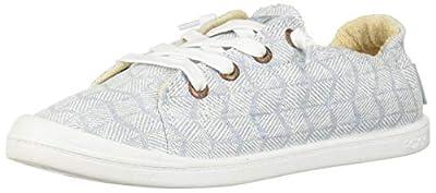 Roxy Women's Bayshore Slip On Sneaker Shoe, Denim, 8 M US