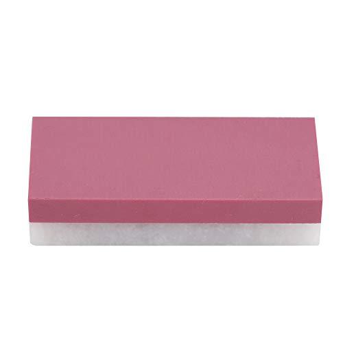 Nicoone Piedra de afilar, portátil y antideslizante herramienta de piedra de afilar profesional 2 en 1 de doble cara, afilador duradero para herramientas de piedra de afilar de cocina