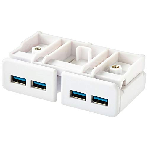 リヒトラブ 机上台専用 USB3.0 ハブ 白 A7337-0