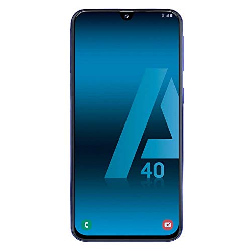 Samsung Galaxy A40 - Smartphone de 5.9' FHD+ sAmoled Infinity U Display (4 GB RAM, 64 GB ROM, 16 MP, Exynos 7904, Carga rápida), Azul [versión española]
