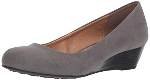 CL by Chinese Laundry Women's Marcie Wedge Pump, Charcoal Super Suede, 9 M US