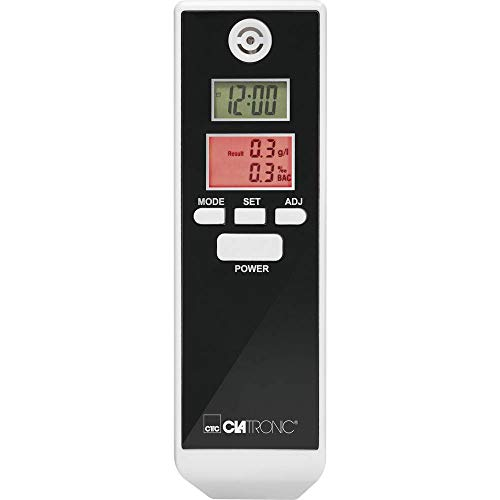 Clatronic AT 3605 Alkoholtester, LCD-Displays, Countdown-Funktion, Alarmfunktion, schwarz/weiß