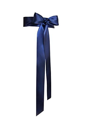 5,1 cm breite, einfache, klassische, bunte Schärpe für Kleid, formelle Hochzeitskleider (Marineblau).
