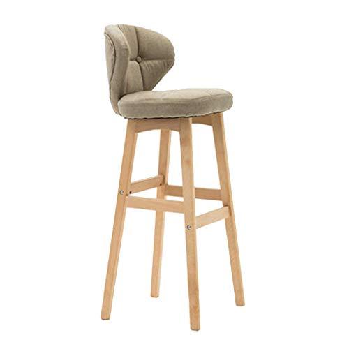 QQXX -Chairs Counter Barhocker Barstuhl mit Rückenlehne Kitchen Pub Counter Chair SoftCushion Kitchen Breakfast BarstoolHome Büromöbel-24 Zoll