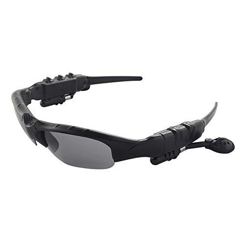 Oculos escuros, Andoer Óculos de sol inteligentes Fone de ouvido sem fio Bluetooth Óculos polarizados Fones de ouvido de música Controle de voz Mão-livre com microfone para equitação, condução Pesca,
