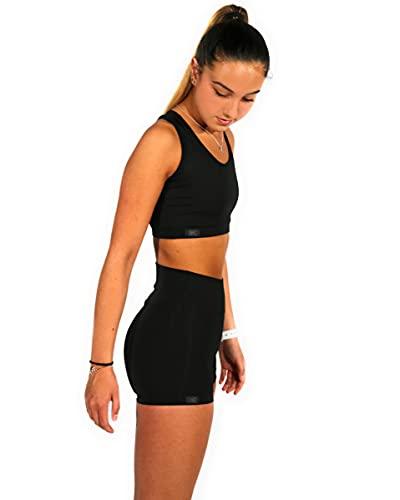 Mallas/Shorts Push Up para Deporte de Mujer, Leggins Pantalon Corto Deporte Yoga, Leggings/Shorts Mujer Fitness Suaves Elásticos Cintura Alta para Reducir Vientre (L, l)