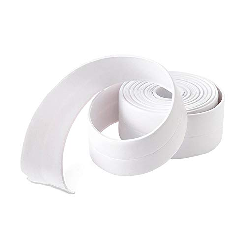 dljztrade 3.2m PVC Universele Waterdichte Keuken Muur Naden Strip Hoek Anti-Bump Protector Sticker Cover 3.2m x 22mm Kleur: wit