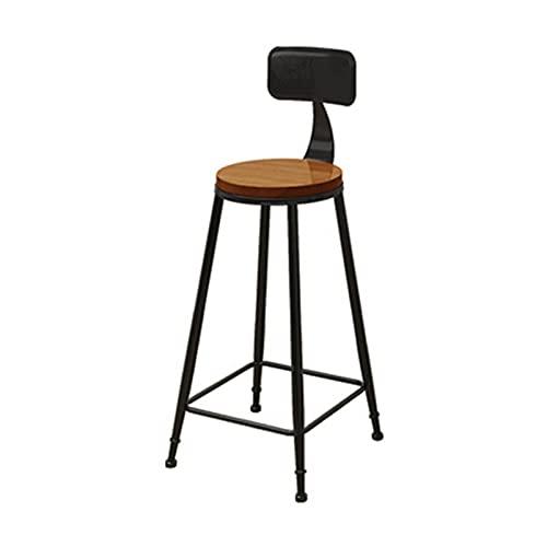 Taburete de bar taburete de comedor de silla alta de metal, taburete de bar industrial retro taburete con respaldo redondo taburete de bar de ocio para el hogar taburete alto antideslizante para ext