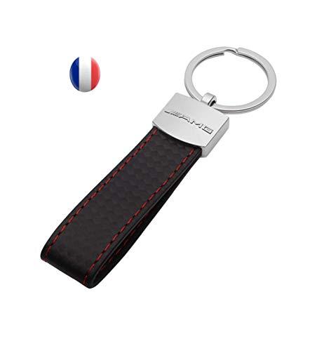 NN_KA Porte clé clés Porte clés Compatible Porte clé Cuir Compatible Porte clés Porte clé clés Compatible Porte clés Compatible et très Classe ave Logo Design (surpiqûre Rouge)
